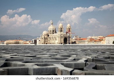 View to Marseilles Cathedral (Cath�©drale Sainte-Marie-Majeure de Marseille) in France
