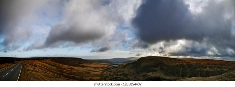 View of Marston Moor from Buckstone Edge, Kirklees, West Yorkshire, UK