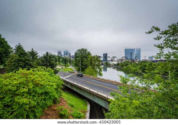 View of Martin Luther King Drive and the Schuylkill River, in Philadelphia, Pennsylvania.