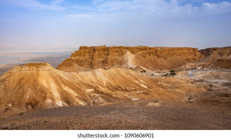 A view of Masada National Park from the western side.