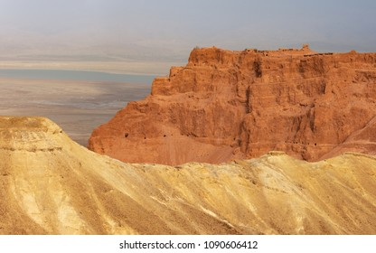 A view of Masada from the West.