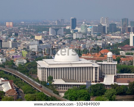 View Masjid Istiqlal Stock Photo Edit Now 1024849009 Shutterstock