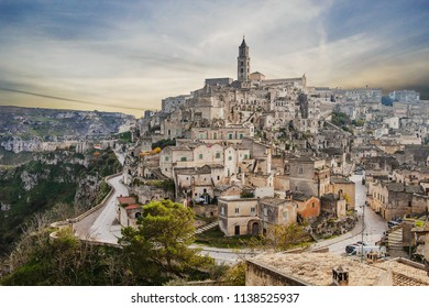 view of the Matera Sassi, sassi Matera, best panorama of Matera, view of the old town