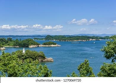 Vista de Matsushima desde Tamonzan