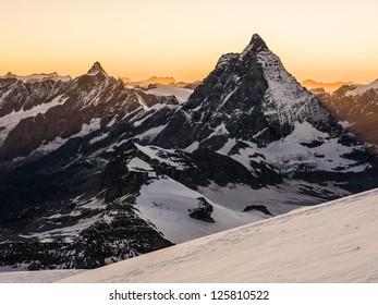 View of Matterhorn at sunset