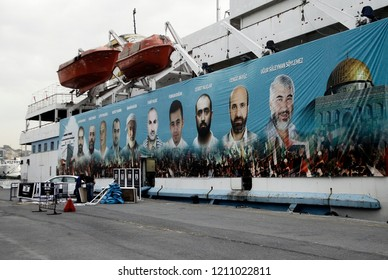 View of the Mavi Marmara ship, the lead boat of a flotilla headed to the Gaza Strip which was stormed by Israeli naval commandos. Istanbul, Turkey on May 29, 2014