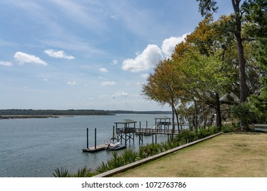 view of the May River in Bluffton SC