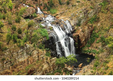 The view of McKenzie Falls from Bluff Lookout in Grampians National Park, Australia.