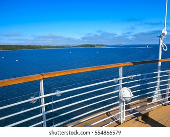 The view of McNabs Island, Halifax, Nova Scotia, Canada from a cruise ship