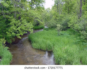 View of the Mecan River in Wisconsin