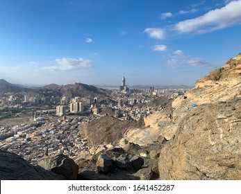 View of Mecca or Makkah city from Hira Cave on Jabal Al Nour (Mountain of Light)