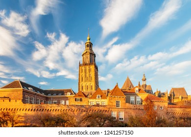 View at the medieval city center of the Dutch town Zutphen in Gelderland
