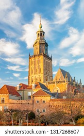View at the medieval city center of the Dutch town Zutphen in Gelderland