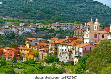 View of the Medieval City in Italian Alps