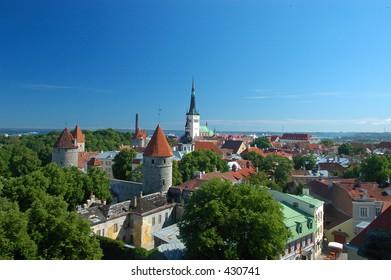 View of medieval city Tallin,Estonia