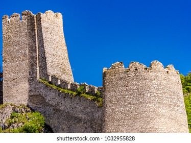 View at medieval fortress on Danube river in Golubac, Serbia