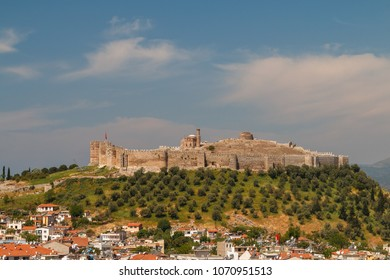 View to the medieval fortress in Selcuk, Turkey