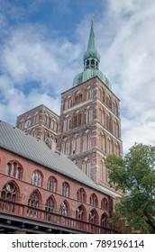 View of the medieval parish Church of St. Nicholas, Stralsund, Germany