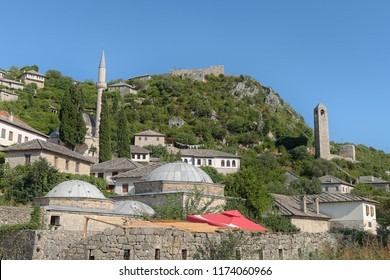 view medieval Pocitelj fortified town, Bosnia and Hezegovina