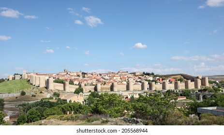 View of the medieval spanish town Avila, Castile and Leon, Spain