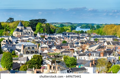 View of the medieval town of Amboise in France - the Loire Valley
