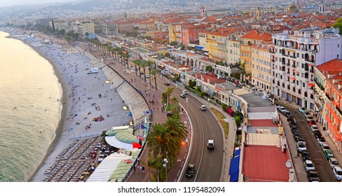 View of the Mediterranean Sea, Bay of Angels, Nice, France