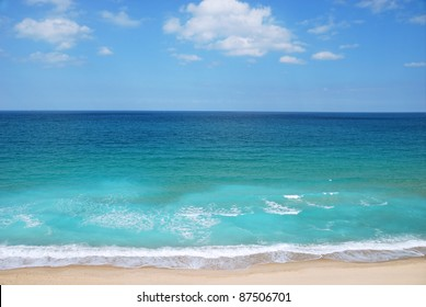 view of Mediterranean sea in Israel