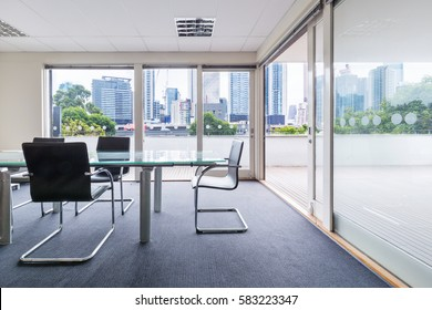 View of Melbourne CBD from a boardroom office