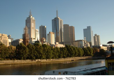 View of Melbourne's city with the Yarra river