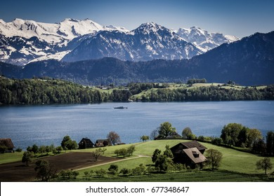View from Merlischachen over Lake Lucerne