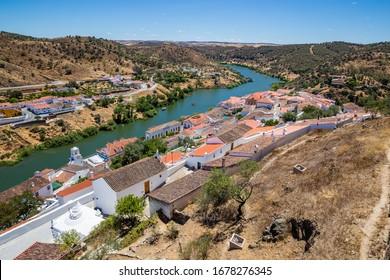 View Of Mertola City And Guadiana River - Mertola, Alentejo, Portugal, Europe