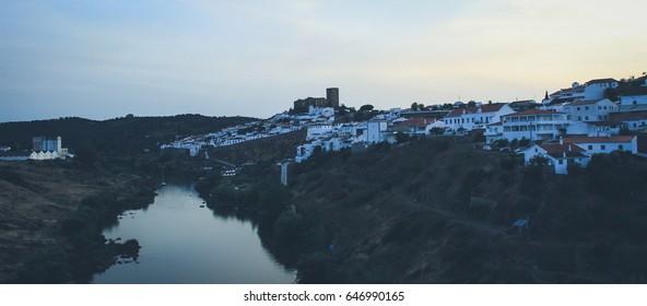 View of the Mertola village in Alentejo Portugal