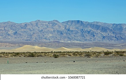 View at Mesquite Flat Sand Dunes - Death Valley National Park, Mojave Desert, California