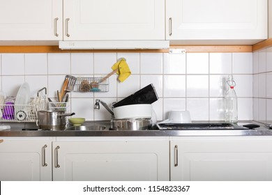 View of a messy kitchen