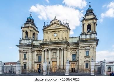 View at the Metropolitan Cathedral of Guatemala City - Guatemala