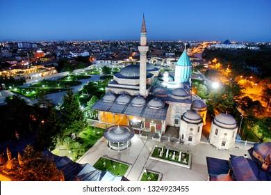 A view of Mevlana Museum in Konya, Turkey.