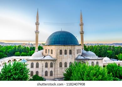 View of Mevlidi Halil Mosque,one of landmarks in Sanliurfa,Turkey.