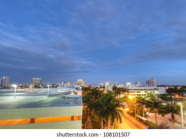 View of Miami Beach in the Early Morning.