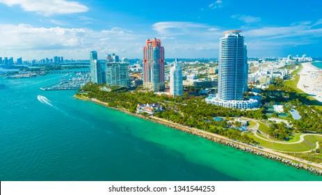View of Miami Beach, South Beach. Florida. USA.