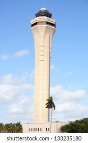 View of Miami's air traffic control tower at MIA