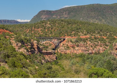View of the Midgley Bridge over Wilson Canyon near Sedona, Arizona, USA.