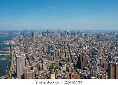 View of midtown Manhattan from above