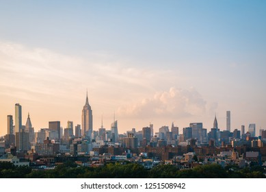 View of Midtown at sunset, in Manhattan, New York City