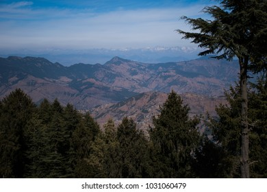 A view of mighty Himalayas from Kufri