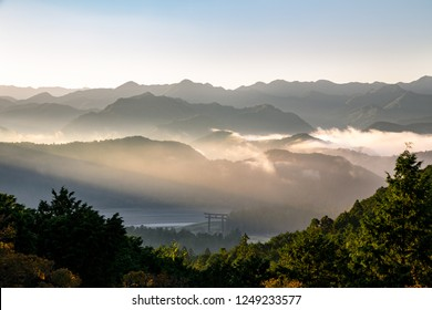 A view from Miharashidai observatory (Kumano Kodo pilgrimage routes), Wakayama prefecture, japan