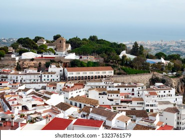 View of Mijas village at sunny day, Costa del Sol, Andalusia, Spain