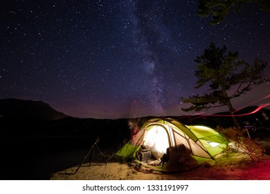 A view of the Milky Way during a camp