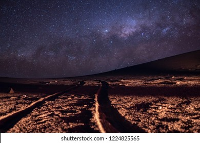 A view of the Milky Way from the southern hemisphere at Atacama Desert wonderful night skies on a lonely place to enjoy the good seeing for looking at stars around the night sky just amazing. Chile