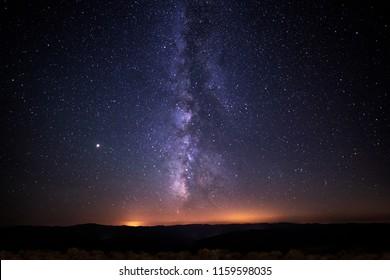 View of Milky Way, Spain.