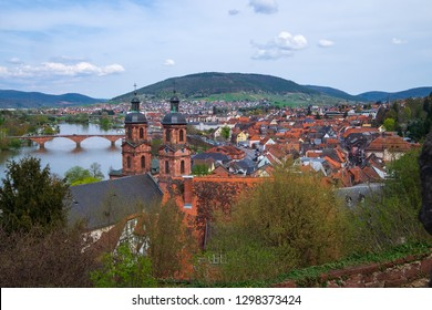 View to Miltenberg/Germany and the river Main